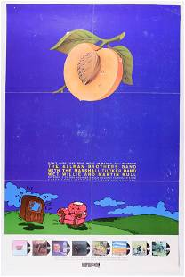 1974 Allman Brothers Don Kirshner's Rock TV Show Poster