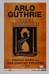 2017 Arlo Guthrie Alice's Restaurant Signed Poster