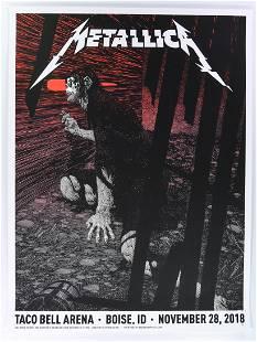 2018 Metallica Taco Bell Park Artists Proof Poster