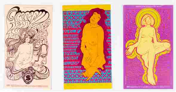 Collection Of 3 Wes Wilson Postcards