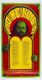 """Allen Ginsberg """"Who Be Kind To"""" Wes Wilson Poster"""