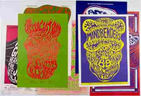 Grab Bag of 7 Wes Wilson Fillmore Posters