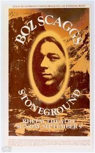 Boz Scaggs Rheem Theatre Poster