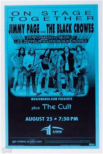 Jimmy Page and the Black Crowes Poster
