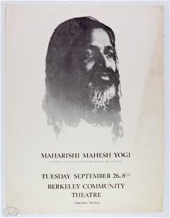 Maharishi Mahesh Yogi Berkeley Community Theatre Poster