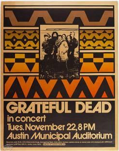 1972 Grateful Dead Austin Municipal Poster