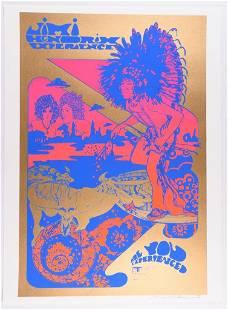 Hendrix Nigel Waymouth Signed Lmt Ed Poster