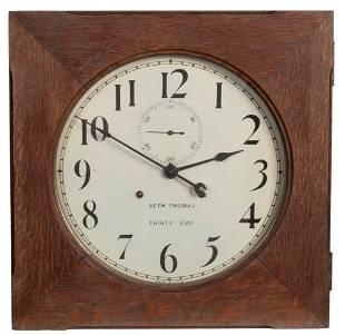 A Seth Thomas Railroad Station Thirty Day Clock