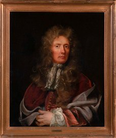 Attributed Half Length Portrait by Hyacinthe Rigaud