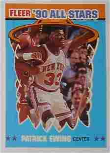 1990 Fleer All Stars Sticker Patrick Ewing