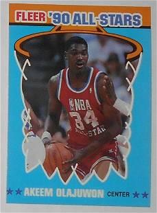 1990 Fleer All Stars Sticker Akeem Olajuwon