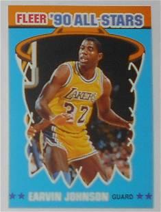 1990 Fleer All Stars Sticker Earvin Johnson