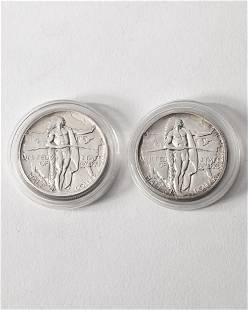 2 x Half Dollar USA. 1926. Oregon Trail Memorial