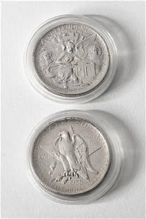 2 x Half Dollar USA 1934,1935 Texas Independence