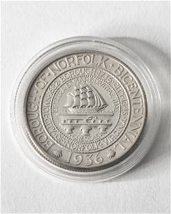 Half Dollar USA 1936 Borough of Norfolk Bicentennial