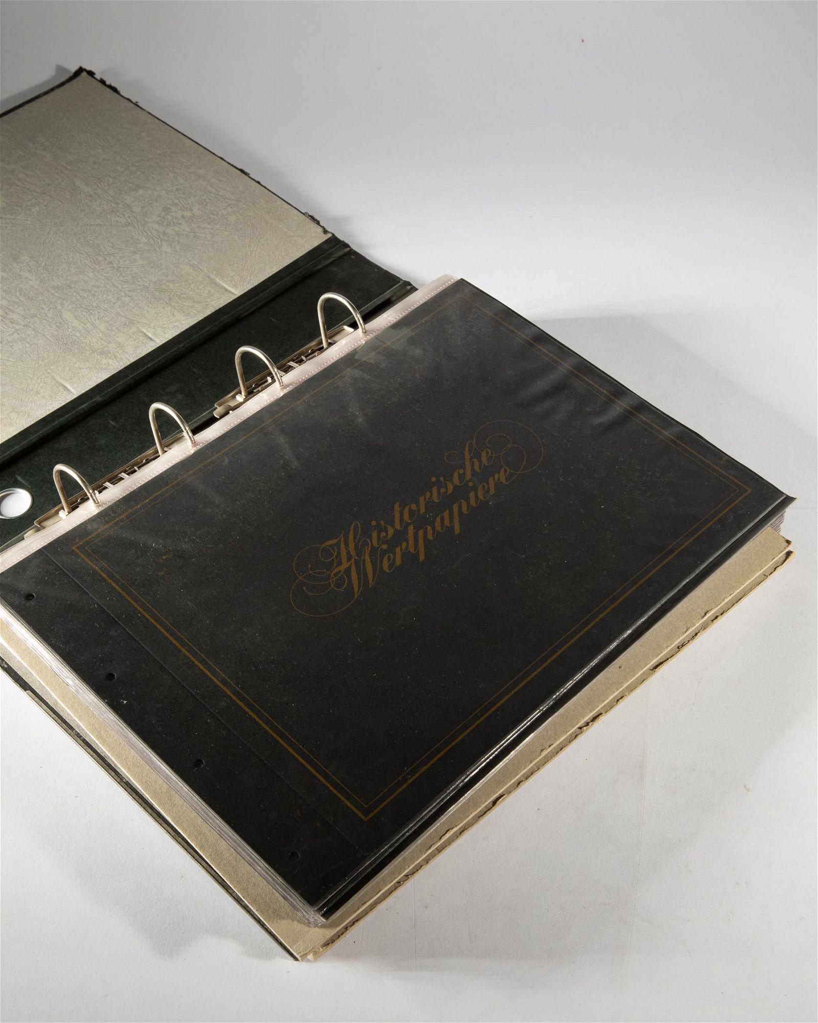 Album with various security bills 1867-1944
