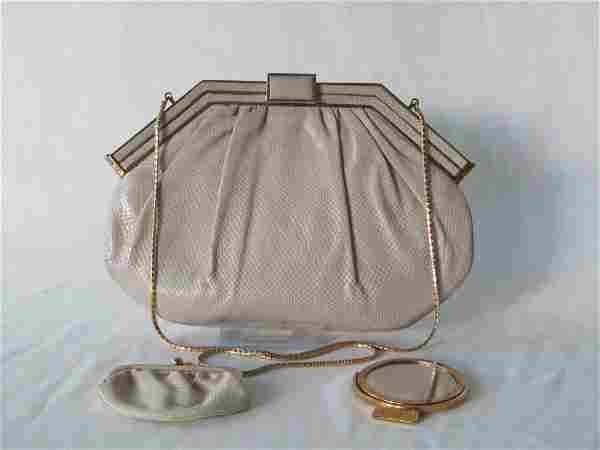 Judith Leiber White Handbag