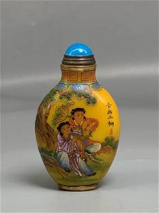 Colored glaze painted snuff bottle