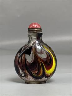 Colored Glaze Snuff Bottle.