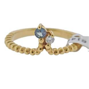 Mark Henry 18k Gold Alexandrite Diamond Ring