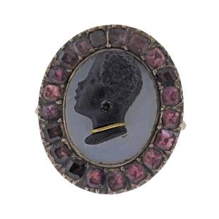 Antique 14k Gold Blackamoor Tourmaline Ring
