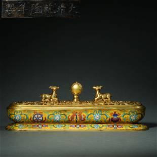 Qing Dynasty,Choisonne Incense Burner