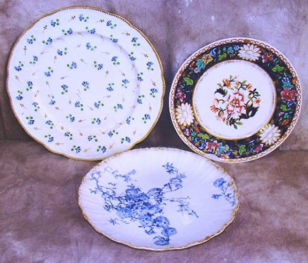 3: 3 ANTIQUE POTTERY PLATES SPODE DOULTON BURSLEM