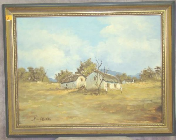 21: BENZIEN, Don OIL PAINTING CAPE LANDSCAPE