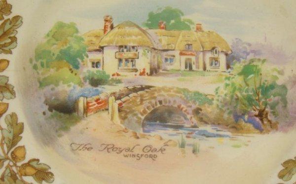 "1203: ROYAL DOULTON ""OLD ENGLISH INNS"" PART TEA SET D60 - 4"