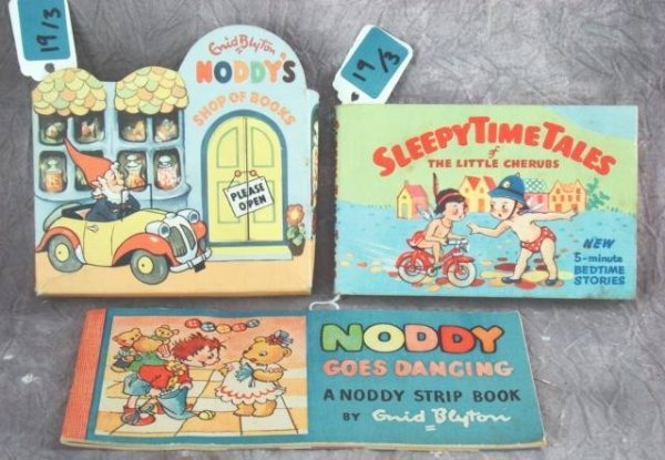 19: COLLECTION VINTAGE ENID BLYTON NODDY BOOKS &
