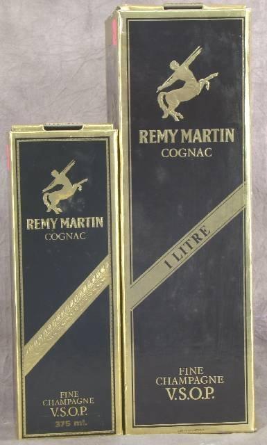 44: 2 BOXED BOTTLES REMY MARTIN COGNAC FINE CHAMPAGNE