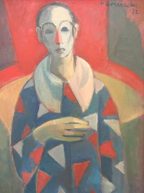 """1201: VAN ESSCHE, Maurice (1906-1977) ~ OIL ON CANVAS """""""
