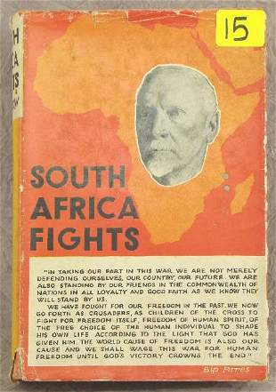 SOUTH AFRICA FIGHTS, J.S.M. SIMPSON, SIGNED FIRST E
