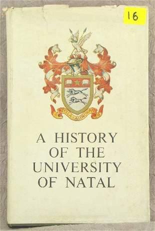 A HISTORY OF THE UNIVERSITY OF NATAL , E. F. BROOKS