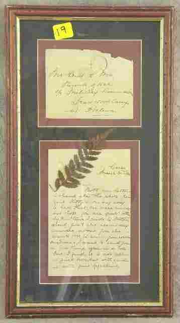 BOER WAR c1902 P.O.W FRAMED LETTER