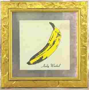 "FRAMED ""ANDY WARHOL"" VELVET UNDERGROUND LP RECORD"