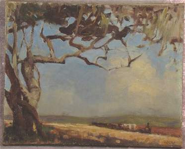 207: WILES   Walter Gilbert  ( 1875-1966 ) OIL ON CANVA