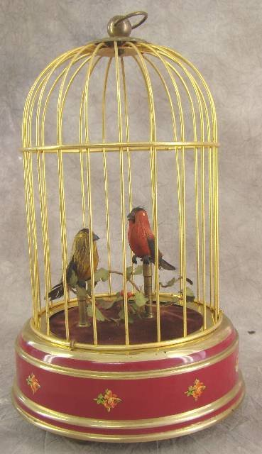 1002: REPRODUCTION CAGED BIRDS AUTOMATON