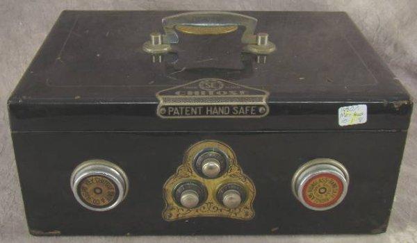1004: VINTAGE CHITOSE PATENT ALARM HAND SAFE