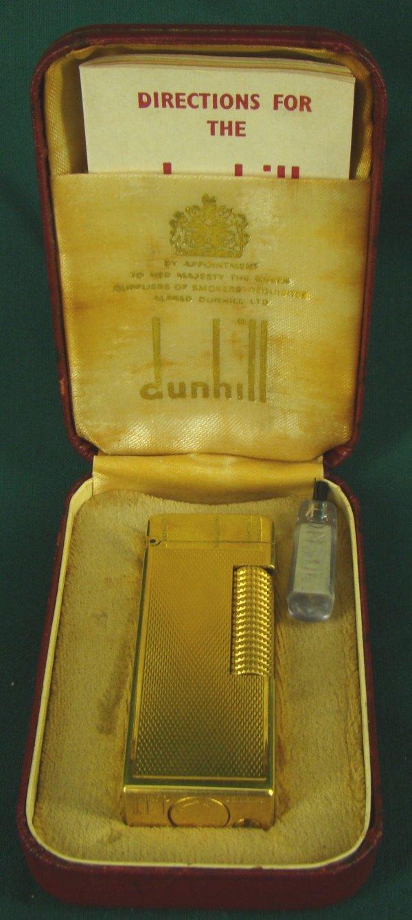 1010: VINTAGE GOLD PLATED DUNHILL CIGARETTE LIGHTER
