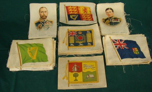 1024: LOT B.D.V CIGARETTE SILKS- MILITARY- FLAGS- FAMOU