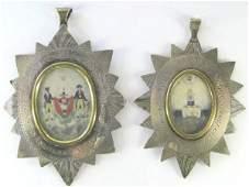1532: 2 GEORGIAN SILVER MASONIC MEDALLIONS, Exeter 1823