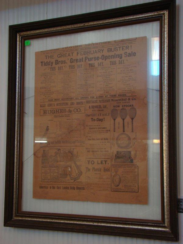 1017: 1909 FRAMED NEWSPAPER