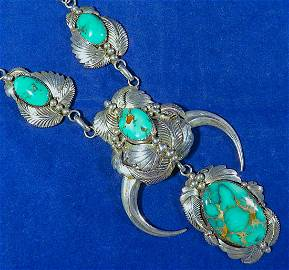 CARICO LAKE TURQUOISE STERLING NECK