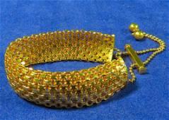 Vintage 14K Yellow Gold Italian Bolo Bracelet