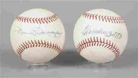 Two Signed Boston Red Sox Baseballs