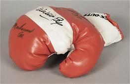 Muhammad Ali/Larry Holmes/Willie Pep Signed Glove