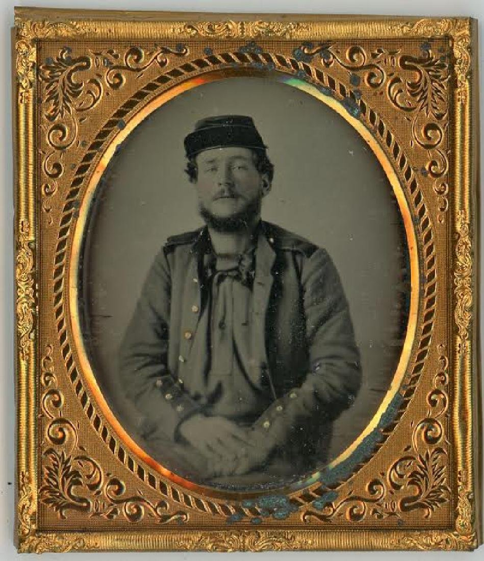 SIXTH-PLATE DAGUERREOTYPE OF A NEW YORK STATE MILITIA