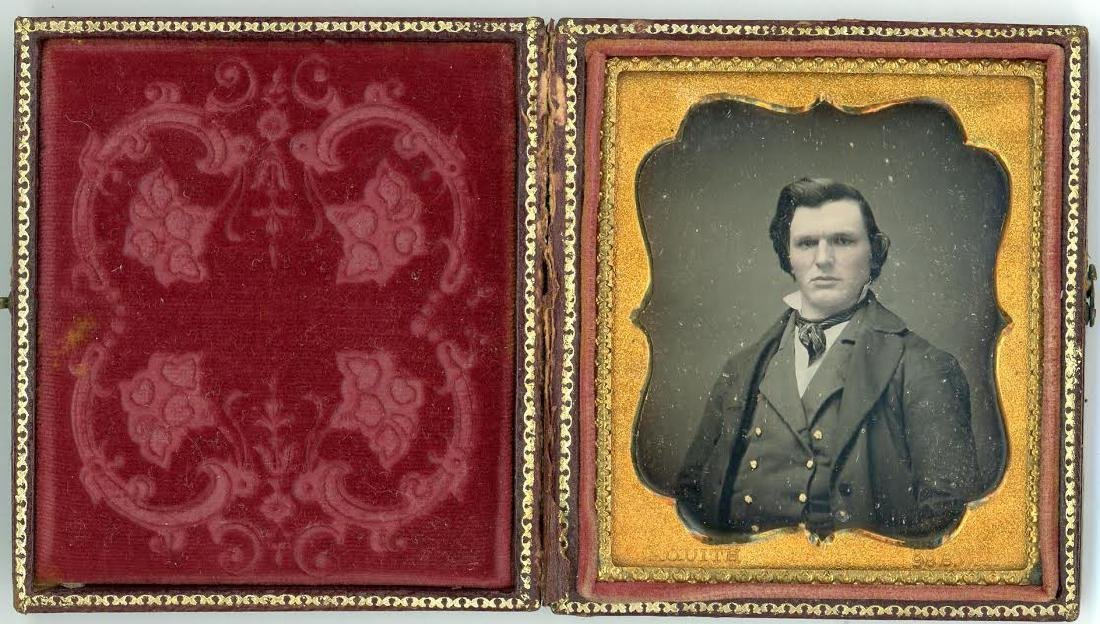 SIXTH-PLATE DAGUERREOTYPE BY JAQUITH, NY OF A MAN IN