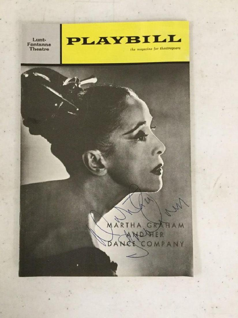 1963 PLAYBILL SIGNED BY MARTHA GRAHAM, AS PICTURED